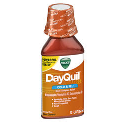Vicks DayQuil Cold & Flu Multi-Symptom Relief Liquid - 12 oz