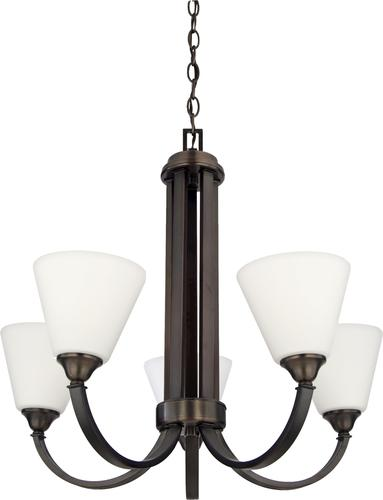 Patriot Lighting Plaza Oil Rubbed Bronze 5 Light Chandelier At M