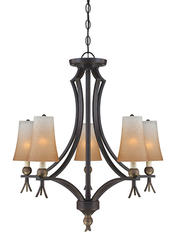 "Patriot Lighting® Easy Street Collection 29.50"" Imperial Bronze 5-Light Semi-Flush Mount"
