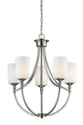 "Patriot Lighting® Elegant Home Timothy 22"" Brushed Nickel 5-Light Chandelier"