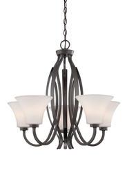 "Patriot Lighting® Elegant Home Kimberly Collection 25"" Vintage Bronze 5-Light Chandelier"