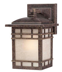 "Patriot Lighting® Mission 9"" Imperial Bronze 1-Light Outdoor Wall Light (Small)"
