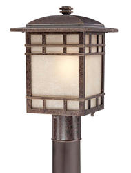 "Patriot Lighting® Mission 15"" Imperial Bronze 1-Light Outdoor Post Light"