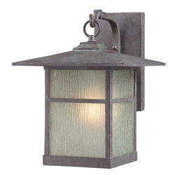 "Patriot Lighting® Granite 14.50"" Bronze 1-Light Outdoor Wall Light"