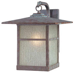 "Patriot Lighting® Granite 12"" Bronze 1-Light Outdoor Wall Light"