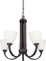"Patriot Lighting® Plaza 22.50"" Oil Rubbed Bronze 5-Light  Chandelier"