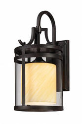 "Patriot Lighting® Kaitlyn 17.50"" Imperial Bronze 1-Light Outdoor Wall Light"