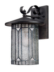 "Patriot Lighting® Elegant Home Baltimore 12.5"" Bronze 1-Light Outdoor Wall Lantern"