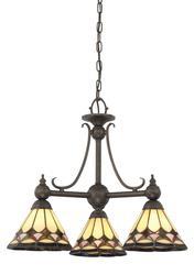 """Patriot Lighting® Menards® Tiffany 20"""" Espresso 3-Light Chandelier"""