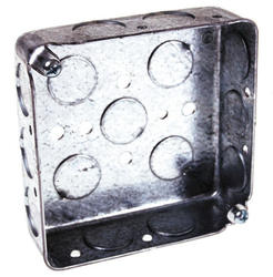 "4"" Square Box For Conduit, 1-1/4"" Deep"