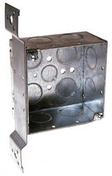 "4"" Square Box For Conduit, 2-1/8"" Deep"