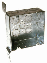 "4-11/16"" Square Box For Conduit, 2-1/8"" Deep"