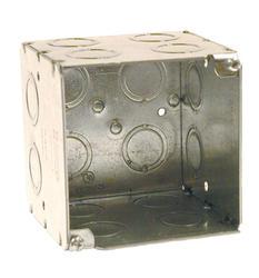 "3-3/4"" Square Box For Conduit, 3-1/2"" Deep"