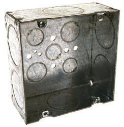 "4-11/16"" Square Box For Conduit, 2-1/8"" Deep"