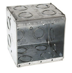 "3-1/2"" Deep, 2 Device Masonry Box For Conduit"