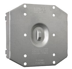 """3/4"""" Raised Protection Plate For 2-Device Mudring"""
