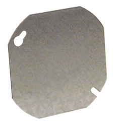 "4"" Flat Octagon Box Cover, Blank"
