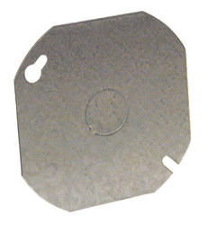 "4"" Flat Octagon Box Cover, 1/2"" Center Knockout"