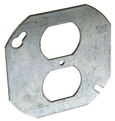 """4"""" Flat Octagon Cover, One Duplex Receptacle"""