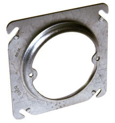 """4"""" Open Square Box Fixture Cover, Raised With Ears"""