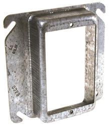 "4"" Square Mud-Ring For One Device, Raised"