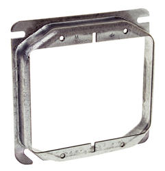 "4"" Square Mud-Ring For Two Devices, Raised"