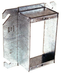 """4"""" Square Mud-Ring For One Device, Raised"""