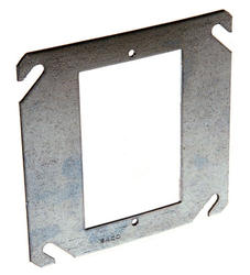 "4"" Flat Square Mud-Ring For One Device"