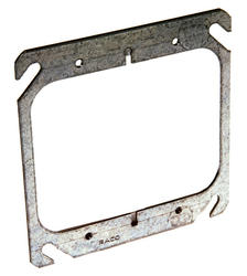 "4"" Flat Square Mud-Ring For Two Devices"