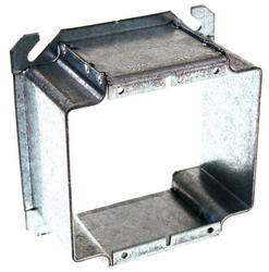 """4"""" Square Mud-Ring For Two Devices, Raised"""