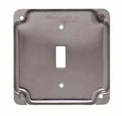 """4"""" Square Exposed Work Cover For One Device"""
