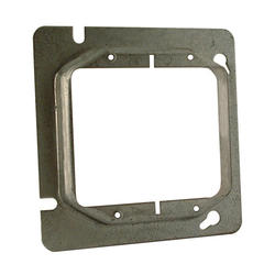 "4-11/16"" Square Mud-Ring For Two Devices, Raised"