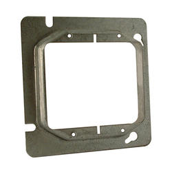 """4-11/16"""" Square Mud-Ring For Two Devices, Raised"""