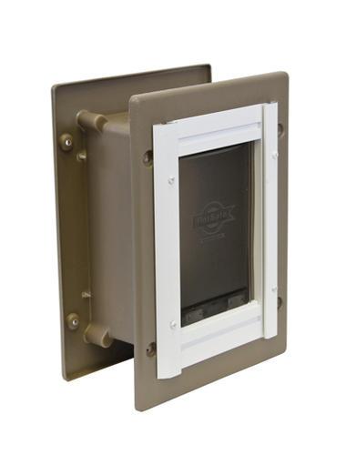 Petsafe 825quot x 1125quot medium aluminum wall entry pet door for Dog door menards