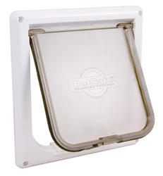"PetSafe 5.75"" x 5.75"" Small White Cat Flap Pet Door"