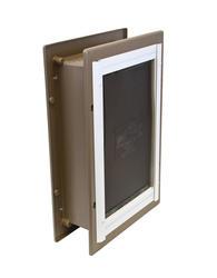 """PetSafe 10"""" x 15"""" Large Aluminum Wall Entry Pet Door"""