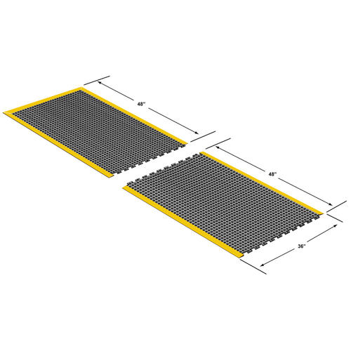 Ultra Dome Interlock Solid End Section Rubber Mat 3 X 4