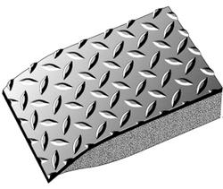 "Conductive Diamond Vinyl Anti-Fatigue Mat 3' x 5' x 9/16"""