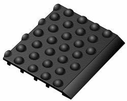 "Tritan Ultra-Dome Rubber Anti-Fatigue Runner 3' x 5' x 5/8"""