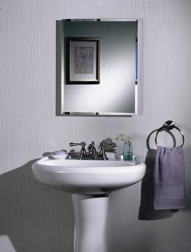 """Small Bathroom Cabinet 16 Wide: Jensen 16"""" Wide Beveled Single Door Steel Medicine Cabinet"""