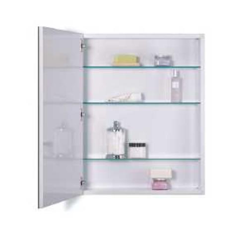 Jensen 30 tall metro oversized flat mirror medicine for Flat bathroom mirror