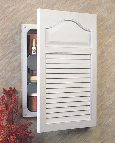 Jensen 24 1 2 Quot Tall Recessed Louver Door Cabinet With Flat