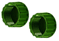 Ray Padula® Cap It! Plastic End Caps (2-Pack)