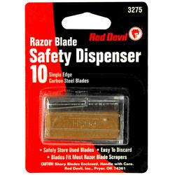 Red Devil Single-Edge Razor Blades in Safety Dispenser - 10-ct