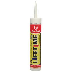 Red Devil Lifetime White Siliconized Acrylic Adhesive Sealant - 10.1 oz