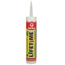 Red Devil Lifetime Clear Siliconized Acrylic Adhesive Sealant - 10.1 oz