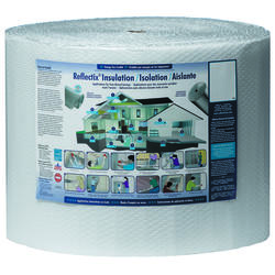 "Reflectix 16"" x 100' Single Reflective/White Double Bubble Insulation - Covers 133.33 Sq. Ft."