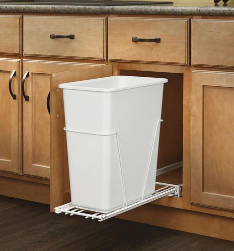 rev a shelf white waste container 30 qt at menards. Black Bedroom Furniture Sets. Home Design Ideas