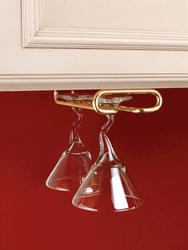 "Rev-A-Shelf® 18"" Brass Stemware Holder"