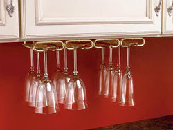 "Rev-A-Shelf® 11"" Brass Quad Stemware Holder"